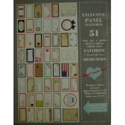 Designer quilt labels panel