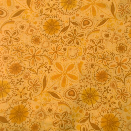 Fabri-Quilt Inc. 10903 yellow flower