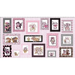 Fancy cats Panel 691-948-B